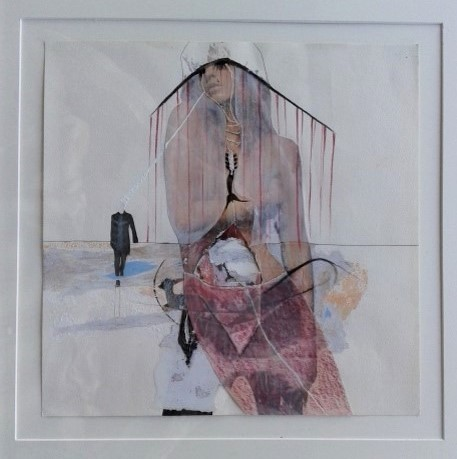 Untitled, no date, collage, pencil and colored pencil on paper (private collection)
